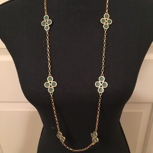 🆕 AUTHENTIC TORY BURCH TEAL/GOLD NECKLACE SETS